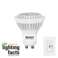 Bulbrite-LED6MR16GUWWD-6.5-watt-Dimmable-MR16-LED-Bulb-GU10-Base-Soft-White-0